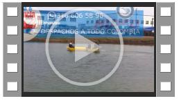 previo bote punta roma amarillo desplazandose